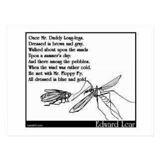 Les longues jambes de papa et la mouche carte postale