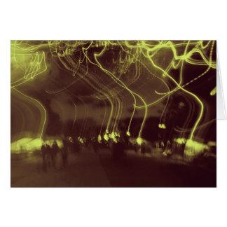 """Les """"lumières vont"""" - carte de marche"""