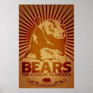 les machines athée de massacre d'ours câlinent l'a poster