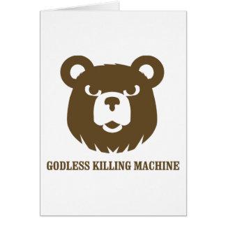 les machines athée de massacre d'ours câlinent le  carte de vœux