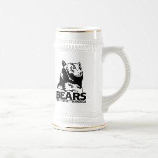 les machines athée de massacre d'ours câlinent le chope à bière