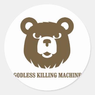 les machines athée de massacre d'ours câlinent le sticker rond