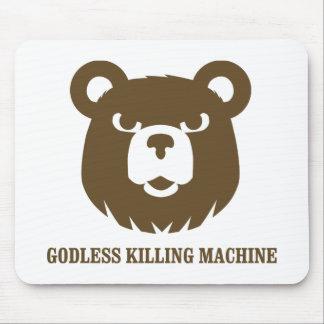 les machines athée de massacre d'ours câlinent le  tapis de souris