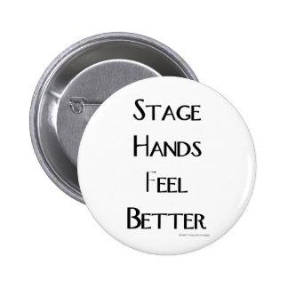 Les mains d'étape se sentent mieux badge rond 5 cm