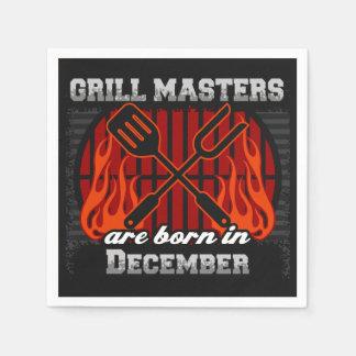 Les maîtres de gril sont en décembre anniversaire serviette jetable