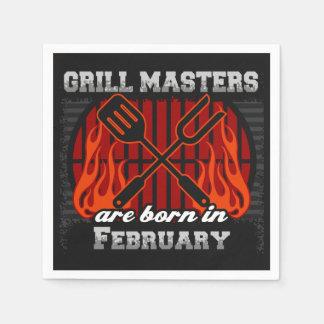 Les maîtres de gril sont en février anniversaire serviettes en papier