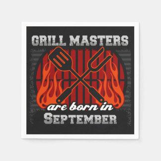 Les maîtres de gril sont en septembre anniversaire serviettes en papier