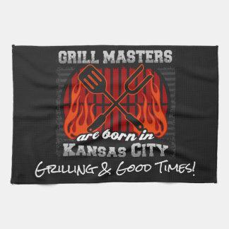 Les maîtres de gril sont nés à Kansas City Serviettes Pour Les Mains