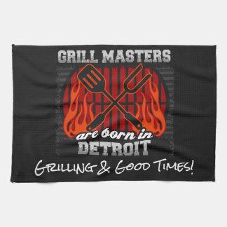 Les maîtres de gril sont nés dans des slogans de serviette pour les mains