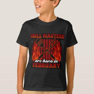Les maîtres de gril sont nés en février t-shirt