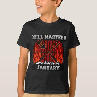 Les maîtres de gril sont nés en janvier t-shirt