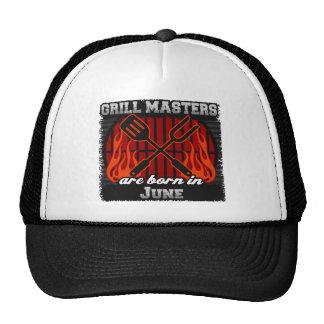 Les maîtres de gril sont nés en juin casquettes de camionneur