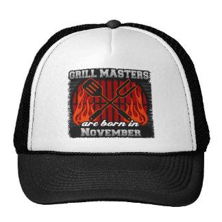 Les maîtres de gril sont nés en novembre casquettes de camionneur