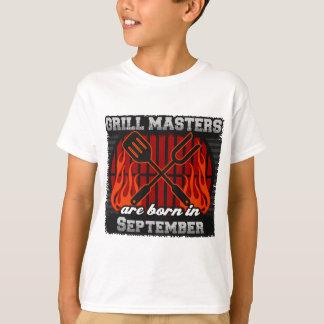 Les maîtres de gril sont nés en septembre t-shirt