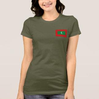 Les Maldives marquent et tracent le T-shirt du DK
