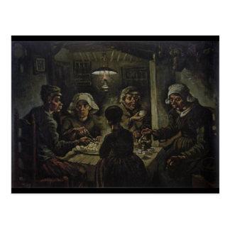 Les mangeurs de pomme de terre carte postale