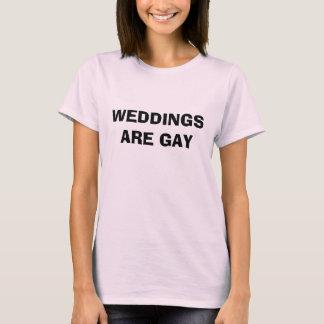Les MARIAGES SONT GAIS - customisé T-shirt