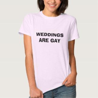 Les MARIAGES SONT GAIS - customisé T-shirts