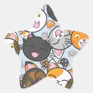 Les masses de Kitty-Autocollants (formes Sticker Étoile