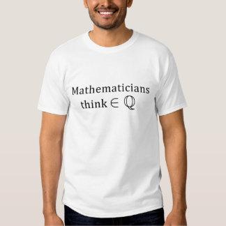 Les mathématiciens pensent rationnellement (la t-shirt