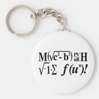 Les maths sont amusement ! porte-clé rond