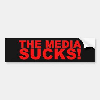 Les médias suce ! autocollant de voiture