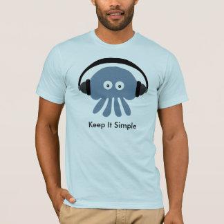Les méduses avec des écouteurs le gardent T-shirt