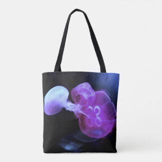 Les méduses roses fraîches se ferment tote bag