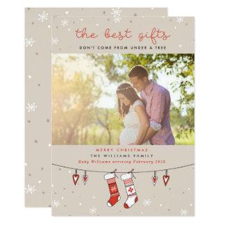 Les meilleures cartes de Noël de grossesse de
