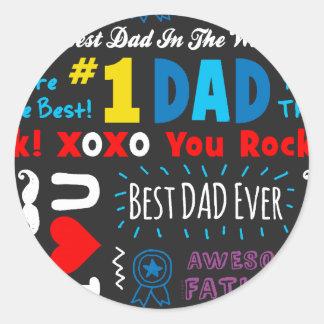 Les meilleures énonciations de papa sticker rond