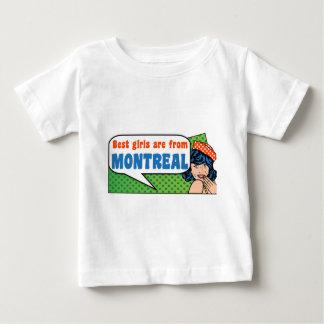 Les meilleures filles sont de Montréal T-shirt Pour Bébé