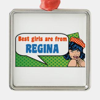 Les meilleures filles sont de Regina Ornement Carré Argenté