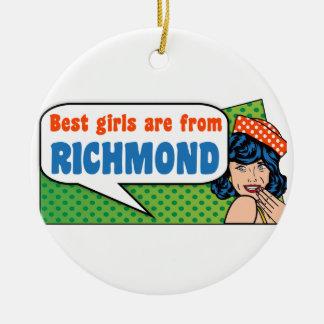Les meilleures filles sont de Richmond Ornement Rond En Céramique
