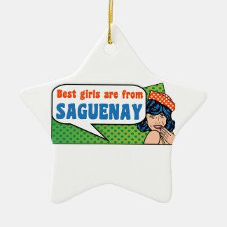 Les meilleures filles sont de Saguenay Ornement Étoile En Céramique