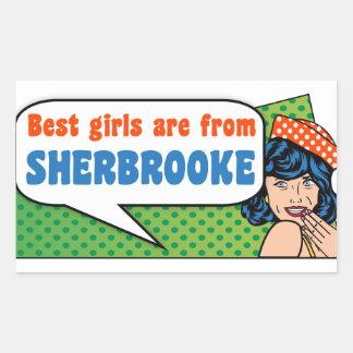 Les meilleures filles sont de Sherbrooke Sticker Rectangulaire