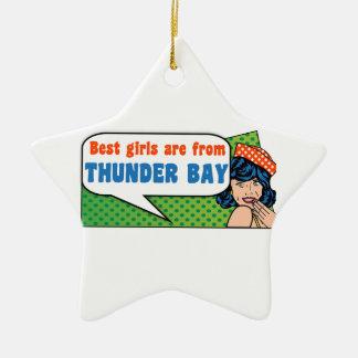 Les meilleures filles sont de Thunder Bay Ornement Étoile En Céramique