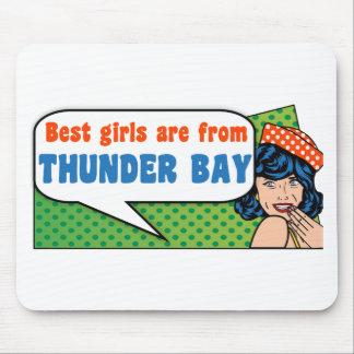 Les meilleures filles sont de Thunder Bay Tapis De Souris