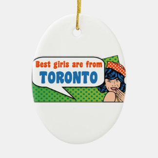 Les meilleures filles sont de Toronto Ornement Ovale En Céramique