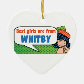 Les meilleures filles sont de Whitby Ornement Cœur En Céramique