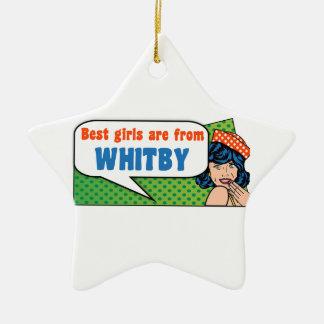 Les meilleures filles sont de Whitby Ornement Étoile En Céramique