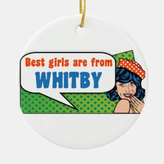 Les meilleures filles sont de Whitby Ornement Rond En Céramique