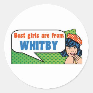 Les meilleures filles sont de Whitby Sticker Rond