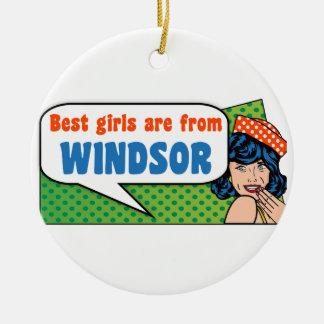 Les meilleures filles sont de Windsor Ornement Rond En Céramique