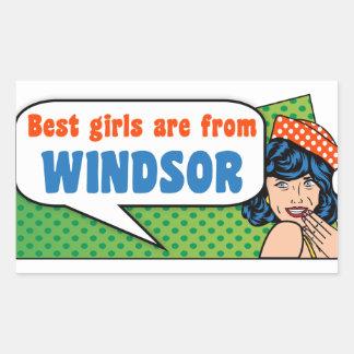 Les meilleures filles sont de Windsor Sticker Rectangulaire
