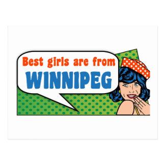 Les meilleures filles sont de Winnipeg Cartes Postales