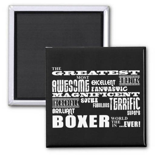 Les meilleurs boxeurs : Le plus grand boxeur Magnets Pour Réfrigérateur