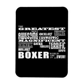 Les meilleurs boxeurs Le plus grand boxeur Magnet Rectangulaire