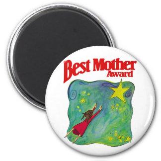 Les meilleurs cadeaux de récompense de mère magnet rond 8 cm