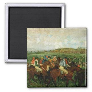 Les messieurs d'Edgar Degas   emballent, avant le Aimant