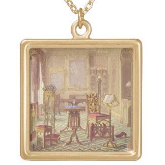 Les meubles gothiques de Pugin, par Augustus Charl Collier Plaqué Or